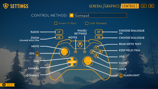 Firewatch controls ui screenshot