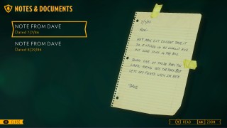 Firewatch lorebook ui screenshot