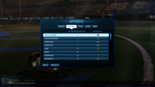 Rocket League controls ui screenshot