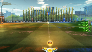 Rocket League lobby ui screenshot