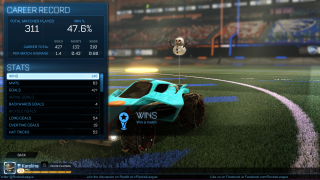 Rocket League stats ui screenshot