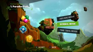 Snake Pass level selection ui screenshot