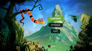 Snake Pass main menu ui screenshot