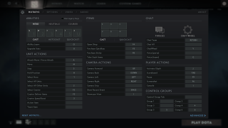 Dota 2 controls ui screenshot
